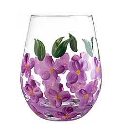 Qualia Blossom Set of 4 Stemless Wine Glasses