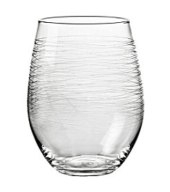 Qualia Graffiti Stemless Set of 4 White Wine Glasses