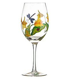 Qualia Lillies Set of 4 Wine Glasses
