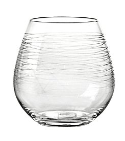 Qualia Graffiti Stemless Set of 4 Red Wine Glasses