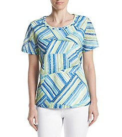 Alfred Dunner® Printed Tiered Knit Top