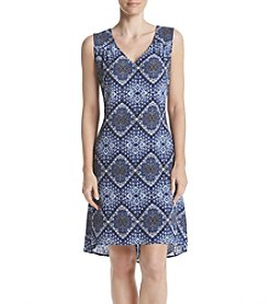 Studio Works® Printed Keyhole Back Dress