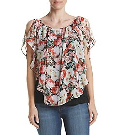 AGB® Print Cold Shoulder Top