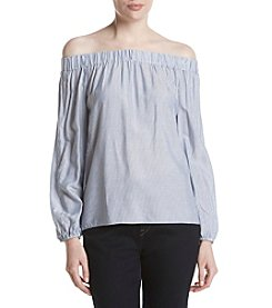 Jones New York® Striped Off The Shoulder Top
