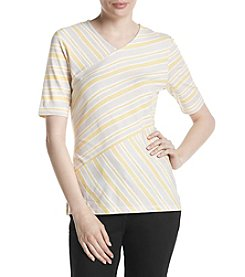 Jones New York® Striped Knit Top