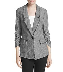 Jones New York® Frayed Linen Blazer