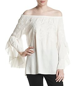 Fever™ Off Shoulder Embroidered Top