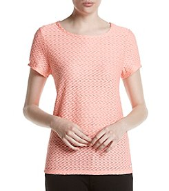 Ivanka Trump® Textured Cut Out Back Tee