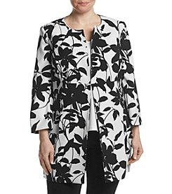 Kasper® Plus Size Printed Long Jacket