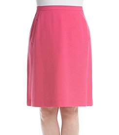Kasper® Plus Size Pocket Crepe Skirt