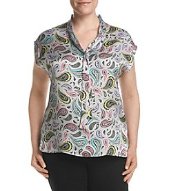 Nine West® Plus Size Paisley Printed Top