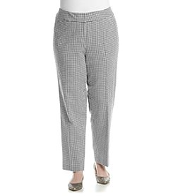 Nine West® Plus Size Gingham Pants