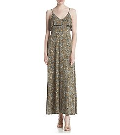 MICHAEL Michael Kors® Floral Printed Flounce Maxi Dress