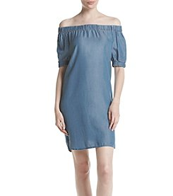 MICHAEL Michael Kors® Denim Off Shoulder Dress