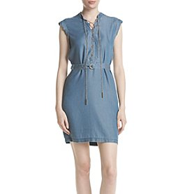 MICHAEL Michael Kors® Chain Accent Denim Look Dress