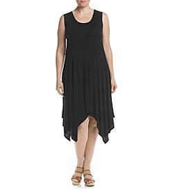 Jessica Simpson Plus Size Sharkbite Hem Dress