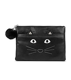 Jessica McClintock® Kitty Cat Top Zip Wristlet