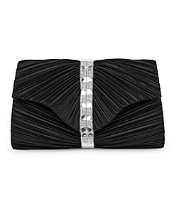 Jessica McClintock® Florence Pleated Satin & Stone Clutch