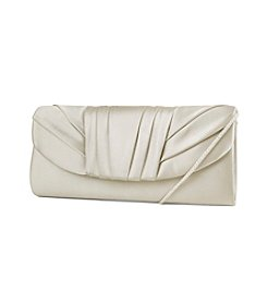 Jessica McClintock® Tuxedo Pleat Satin Clutch