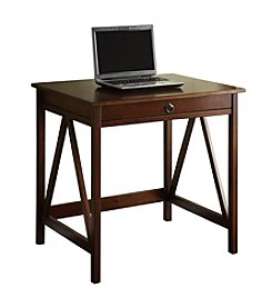 Linon Home Decor Products, Inc. Titian Antique Tobacco Laptop Desk