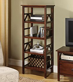 Linon Home Decor Products, Inc. Titian Antique Tobacco TV Tower