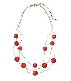 Napier® Multi Row Cabochon Necklace