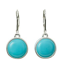 Napier® Circle Drop Leverback Earrings