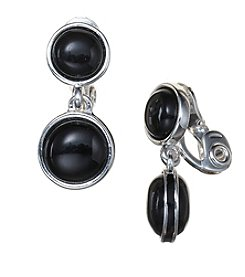 Napier® Double Drop EZ Comfort Clip Earrings