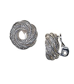Napier® Circle Knot Comfort Clip Earrings
