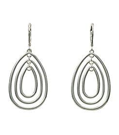 Napier® Teardrop Orbital Drop Earrings