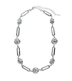 Napier® Silvertone Collar Necklace