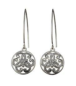 Napier® Scroll Circle Drop Earrings