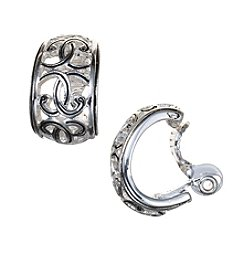 Napier® Scroll Hoop EZ Comfort Clip Earrings
