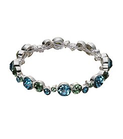 Napier® Simulated Crystal Stretch Bracelet