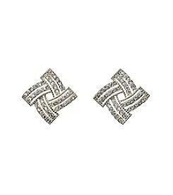 Napier® Cubic Zirconia Twist Post Earrings
