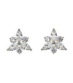Napier® Cubic Zirconia Star Post Earrings