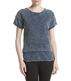 Marc New York Performance Layered Look Denim Top