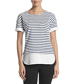 Marc New York Performance Wide Stripe Knit Top