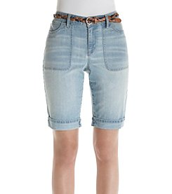 Gloria Vanderbilt® Rachel Belted Bermuda Shorts
