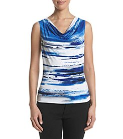 Calvin Klein Abstract Cowlneck Top