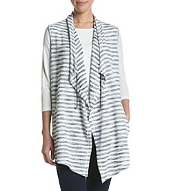 Jones New York® Striped Soft Interlock Vest