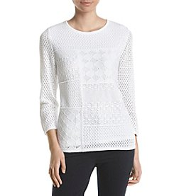 Alfred Dunner® Pointelle Sweater