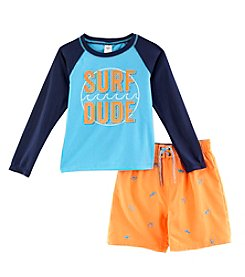 OshKosh B'Gosh® Boys' 2T-7 2-Piece Surf Dude Swim Set