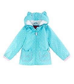 London Fog® Girls' 2T-6X Dot Print Kitty Jacket