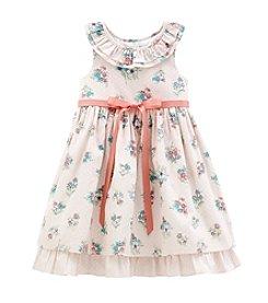 Laura Ashley® Girls' 2T-6X Floral Print Dress