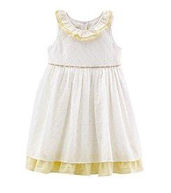 Laura Ashley® Girls' 2T-6X Eyelet Seersucker Dress