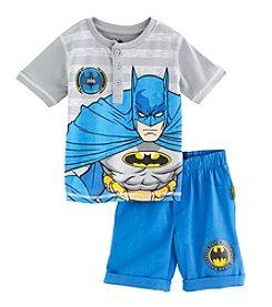 Batman® Boys' 2T-7 2-Piece Batman Striped Set