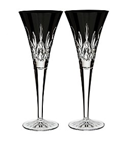 Waterford® Lismore Black Flute Set of 2