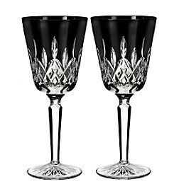 Waterford® Lismore Black Goblet Set of 2
