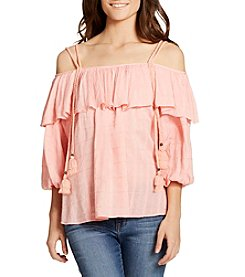 William Rast® Popover Peasant Top